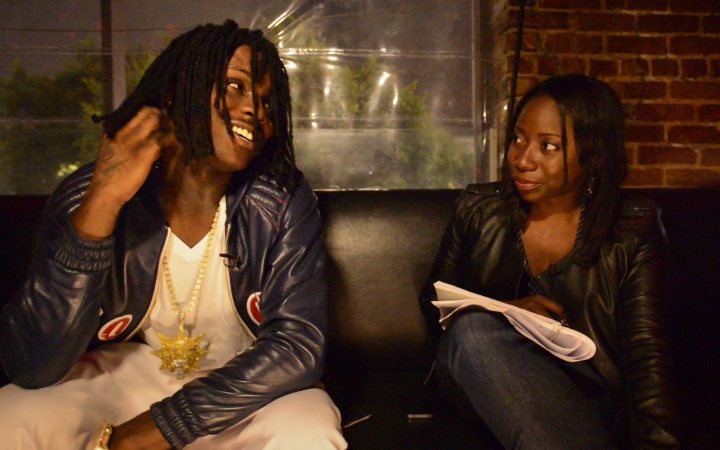 Chief Keef and Adrienne Samuels Gibbs at The Attic in Los Angeles. Image by Peter Holderness.