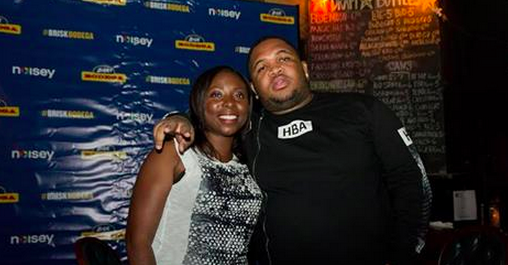 Adrienne Samuels Gibbs and DJ Mustard at Double Door.